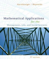 Mathematical Applications for the Management, Life, and Social Sciences 9th Edition 9780547145099 0547145098