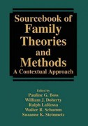 Sourcebook of Family Theories and Methods 1st edition 9780387857633 038785763X