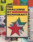 The Challenge of Democracy 10th edition 9780547204543 054720454X