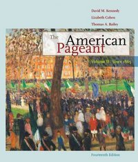 The American Pageant 14th edition 9780547166582 0547166583