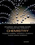 Student Solutions Manual for Zumdahl/Zumdahl's Chemistry 8th edition 9780547168562 054716856X