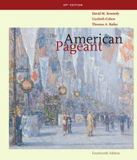 The American Pageant 14th edition 9780547166544 0547166540