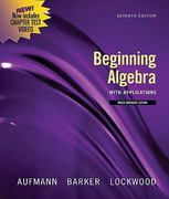 Beginning Algebra with Applications, Multimedia Edition 7th edition 9780547197968 0547197969