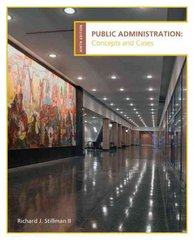 Public Administration 9th edition 9781285224794 1285224795