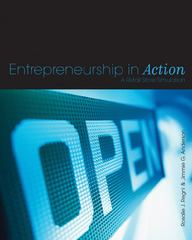 Entrepreneurship in Action 1st edition 9781563675959 1563675951