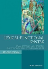 Lexical-Functional Syntax 2nd Edition 9781405187817 1405187816
