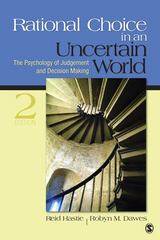 Rational Choice in an Uncertain World 2nd Edition 9781412959032 1412959039