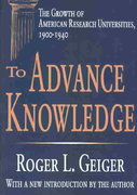 To Advance Knowledge 1st Edition 9780765805607 076580560X
