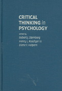 Critical Thinking in Psychology 1st Edition 9780521845892 0521845890