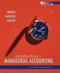 Introduction to Managerial Accounting with Connect Plus 5th edition 9780073527079 0073527076