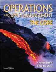 Operations and Supply Management: The Core 2nd Edition 9780073403335 0073403334