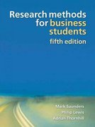 Research Methods for Business Students 5th edition 9780273716860 0273716867