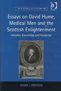 Essays on David Hume, Medical Men and the Scottish Enlightenment 0 9780754693383 0754693384