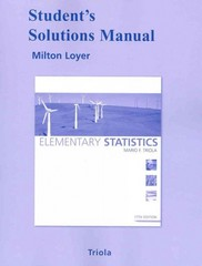 Student Solutions Manual for Elementary Statistics 11th edition 9780321570628 0321570626