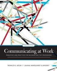 Communicating at Work 10th Edition 9780073385174 0073385174