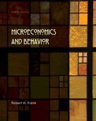Microeconomics and Behavior 8th Edition 9780073375946 0073375942