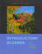 Introductory Algebra plus MyMathLab Student Access Kit 9th edition 9780321576460 0321576462