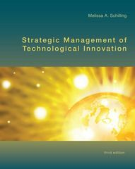 Strategic Management of Technological Innovation 3rd edition 9780073381565 007338156X