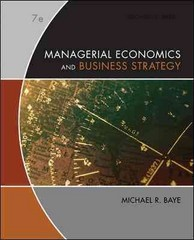 Managerial Economics & Business Strategy 7th edition 9780073375960 0073375969