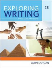 Exploring Writing 2nd Edition 9780073371856 0073371858