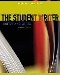 The Student Writer: Editor and Critic 8th edition 9780073383804 0073383805