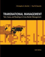 Transnational Management: Text, Cases &amp. Readings in Cross-Border Management 6th edition 9780078137112 007813711X