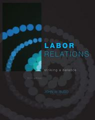 Labor Relations 3rd edition 9780073530338 0073530336