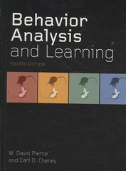 Behavior Analysis and Learning 4th Edition 9780805862607 0805862609