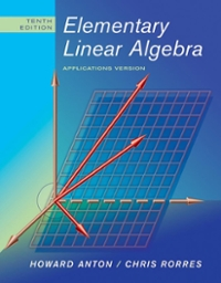 Elementary Linear Algebra 10th edition 9780470432051 0470432055