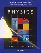 Study Guide and Selected Solutions Manual for Physics, Volume 1 4th edition 9780321602008 0321602005