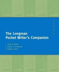 The Longman Pocket Writer's Companion 3rd edition 9780205741793 0205741797