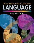 The Cambridge Encyclopedia of Language 3rd Edition 9780521736503 0521736501