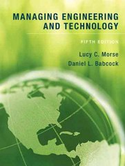 Managing Engineering and Technology 5th edition 9780136098096 0136098096