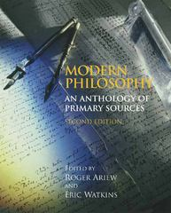 Modern Philosophy 2nd Edition 9780872209787 0872209784