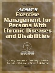 ACSM's Exercise Management for Persons with Chronic Diseases and Disabilities 3rd edition 9780736074339 0736074333