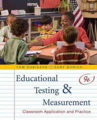 Educational Testing and Measurement 9th Edition 9780470522813 047052281X