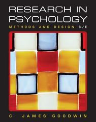 Research In Psychology 6th edition 9780470522783 047052278X