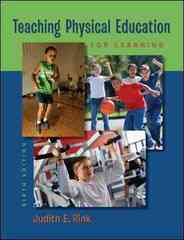 Teaching Physical Education for Learning 6th Edition 9780073376523 0073376523
