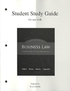 Student Study Guide to accompany Business Law: The Ethical, Global, and E-Commerce Environment 14th edition 9780073361796 0073361798