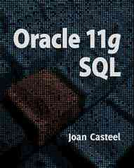 Oracle 11G: SQL 2nd Edition 9781439041284 1439041288