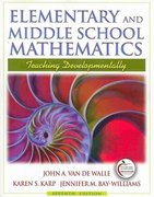 Elementary & Middle School Mathematics with MyEducationLab & enVisionMATH California Ed & Field Experience Guide 7th edition 9780136103684 0136103685