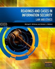 Readings & Cases in Information Security 1st edition 9781133168645 1133168647