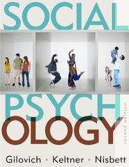 Social Psychology 2nd Edition 9780393932584 0393932583