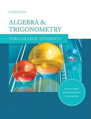 Algebra and Trigonometry for College Students 2nd Edition 9780558058036 0558058035