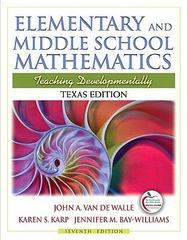 Texas Edition of Elementary and Middle School Mathematics (with MyEducationLab) 7th edition 9780136103677 0136103677