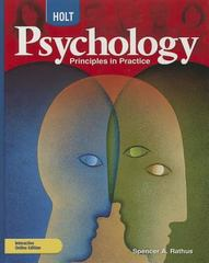 Psychology, Grades 9-12 Principles in Practice 0 9780030777899 0030777895
