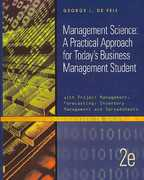 Management Science With Spreadsheets 2nd Edition 9780759352131 0759352135