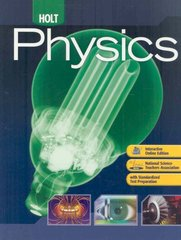 Holt Physics 1st Edition 9780030368165 0030368162