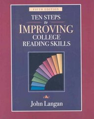 Ten Steps to Improving College Reading Skills 5th edition 9781591940999 1591940990