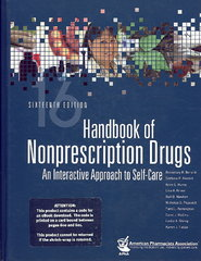 Handbook of Nonprescription Drugs 16th Edition 9781582121222 1582121222